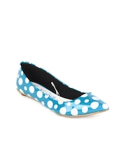 Catwalk Women Blue Polka Dot Flat Shoes