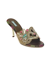 Catwalk Women Gold Toned Sandals