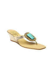 Catwalk Women Gold-Toned Wedges