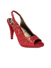 Catwalk Women Shimmery Red Heels