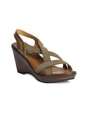 Catwalk Women Olive Wedges