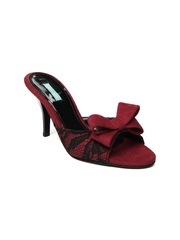 Catwalk Women Red & Black Heels