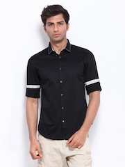 Celio Men Black Slim Fit Smart-Casual Shirt