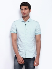Celio Men Blue Slim Fit Casual Shirt