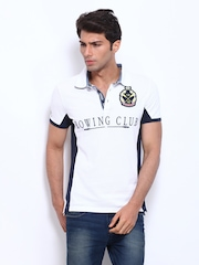 Celio Men White Polo T-shirt
