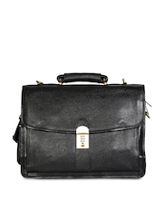 Chanter Men Black Leather Laptop Bag
