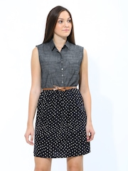 Chemistry Charcoal Grey & Black Shirt Dress