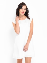 Chemistry White Shift Dress