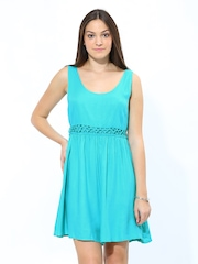 Chemistry Women Turquoise Blue Tailored Dress