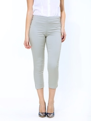 Chemistry Women Grey Ankle Length Trousers