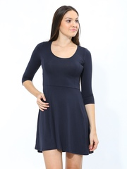 Chemistry Women Navy Fit & Flare Dress