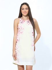 Chemistry Women Off-white Formal Printed A-Line Dress