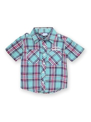Cherokee Boys Blue Checked Shirt