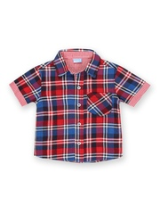 Cherokee Boys Red & Blue Checked Shirt