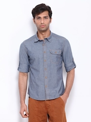 Cherokee Men Blue Slim Fit Casual Shirt