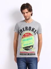 Cherokee Men Grey Printed T-shirt