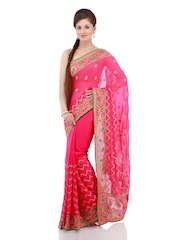 Chhabra 555 Pink Fashion Saree