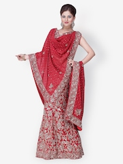 Chhabra 555 Red Lehenga Choli with Dupatta