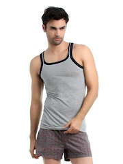 Chromozome Men Grey Melange Innerwear Vest
