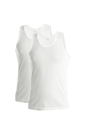 Chromozome Men White Innervests (Pack of 2)