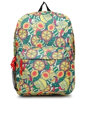 Chumbak Women Multicoloured Lemon Printed Backpack