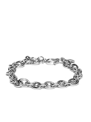 Chumbak Unisex Steel Toned Charm Bracelet