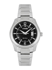Citizen Men Black Dial Eco-Drive Watch