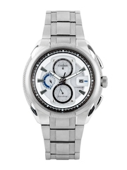 Citizen Men White & Grey Dial Eco-Drive Watch