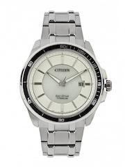 Citizen Men White Dial Eco-Drive Watch BM6921-58A
