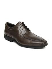Clarks Men Brown Deliver Swift Leather Formal Shoes