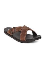 Clarks Men Brown Leather Sandals