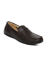 Clarks Men Brown Malta Rider Leather Casual Shoes