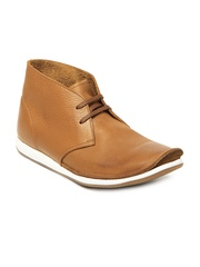 Clarks Men Brown Newton Mass Leather Casual Shoes