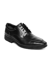 Clarks Men Black Deliver Swift Leather Formal Shoes