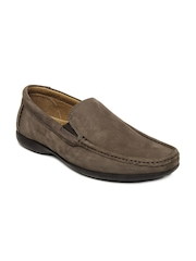 Clarks Men Brown Finer Sun Leather Loafers