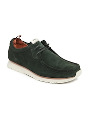 Clarks Men Green Casual Shoes