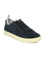 Men Navy Tallow Lace Suede Casual Shoes Clarks