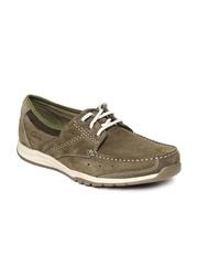 Clarks Men Olive Green Ramada English Casual Shoes