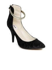 Clarks Women Black Heeled Shoes