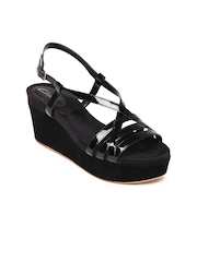 Clarks Women Black Onslow Dream Patent Leather Wedges