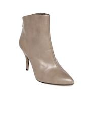 Clarks Women Mushroom Brown Leather Boots