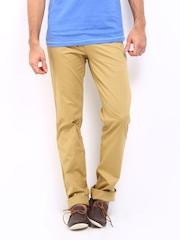 Classic Polo Men Khaki Slim Fit Trousers