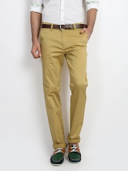 Classic Polo Men Light Khaki Slim Fit Trousers