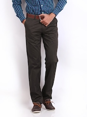 Classic Polo Men Dark Brown Slim Fit Trousers