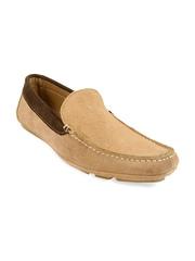 Claude Lorrain Men Beige Leather Loafers