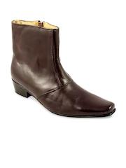 Claude Lorrain Men Brown Leather Semiformal Shoes