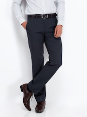 Code Men Blue Slim Fit Formal Trousers