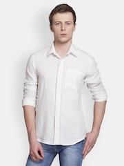 Colormode Men White Slim Fit Casual Shirt