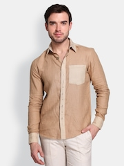 Colormode Men Beige Casual Shirt