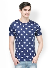 Colors Couture Men Blue Printed T-shirt